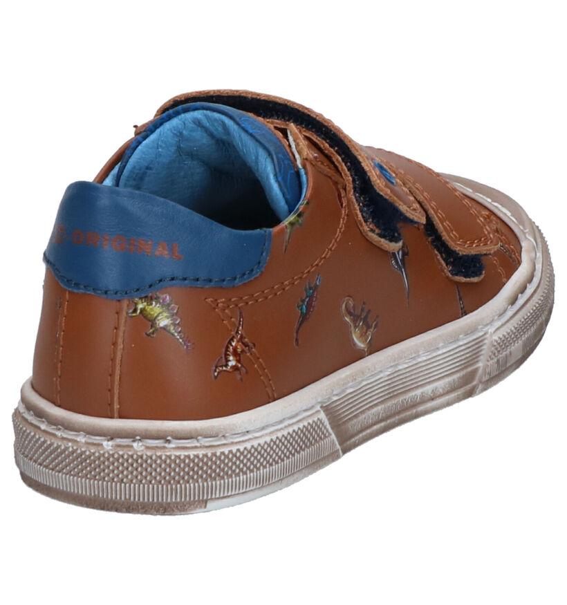STONES and BONES Ubert Chaussures à velcro en Cognac en cuir (275303)