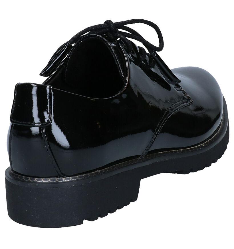 Marco Tozzi Feel Me Chaussure à lacets en Noir en simili cuir (277623)
