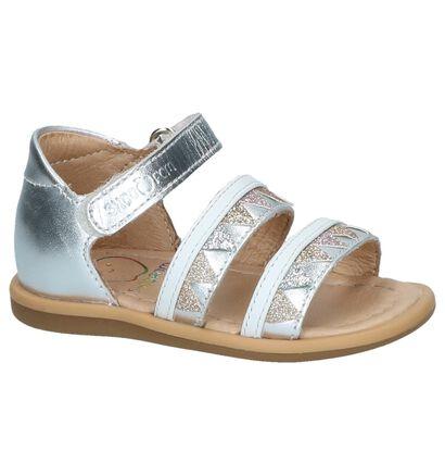 Zilveren Sandaaltjes Shoo Pom in leer (242881)