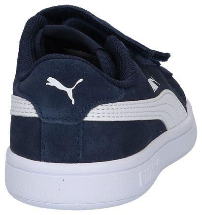 Puma Smash Baskets basses en Bleu foncé en daim (252631)