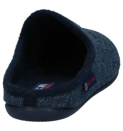 Blauwe Open Pantoffels Scapa in stof (227534)