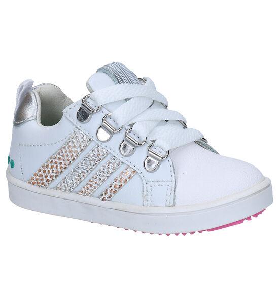 Bunnies Puk Pit Chaussures à lacets en Blanc