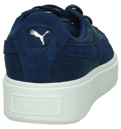 Puma Basket Platform Baskets basses en Noir en textile (199458)