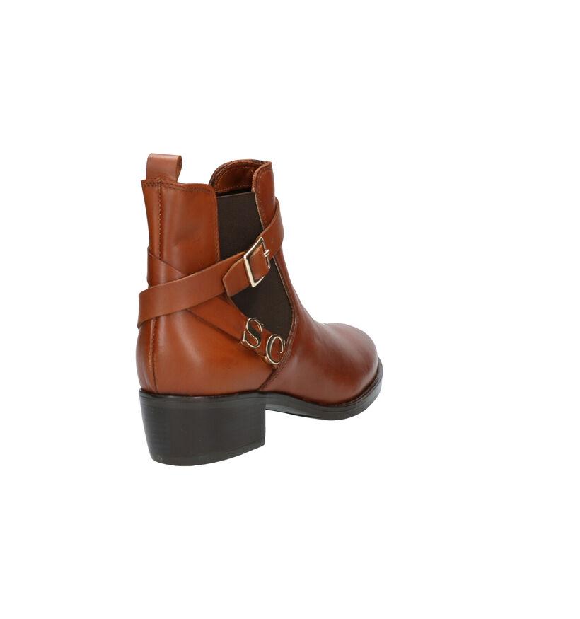 Scapa Cognac Boots in leer (259171)