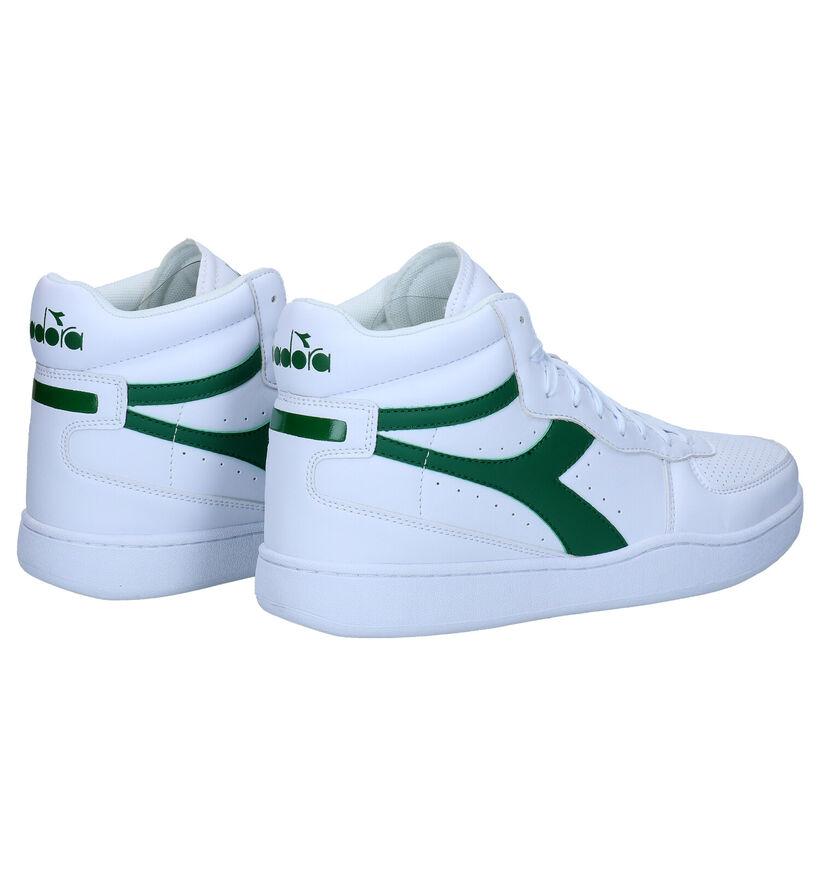 Diadora Playground Witte Sneakers in kunstleer (277675)