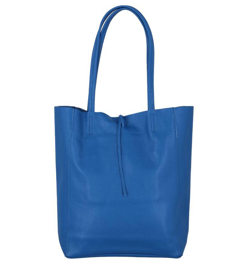 Shopper Tas Blauw Dolce C. in leer (234998)