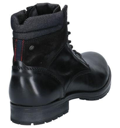 Jack & Jones Boots Zwart in leer (252837)