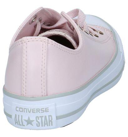 Converse Chuck Taylor All Star Baskets basses en Rose clair en simili cuir (210330)