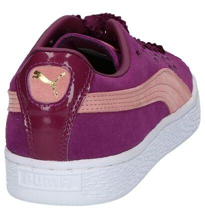 Lichtgrijze Puma Suede XL Lace Sneaker in daim (199467)