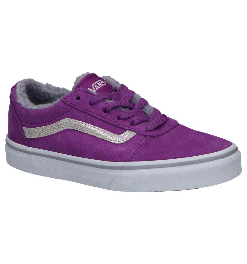 Vans Ward Paarse Sneakers in daim (264178)