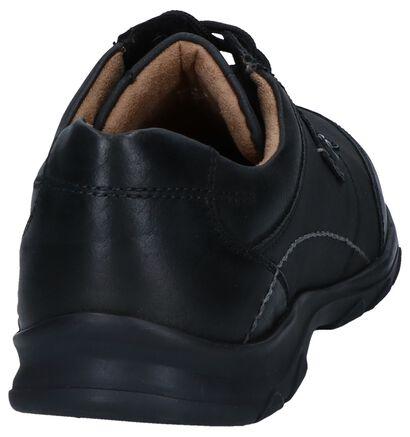 Camel Active Spark Chaussures Basses en Noire en cuir (259366)