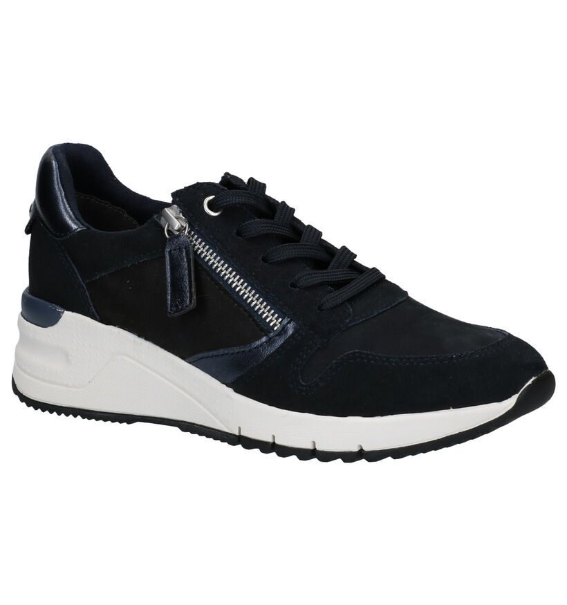 Tamaris Chaussures à lacets en Noir en nubuck (277353)