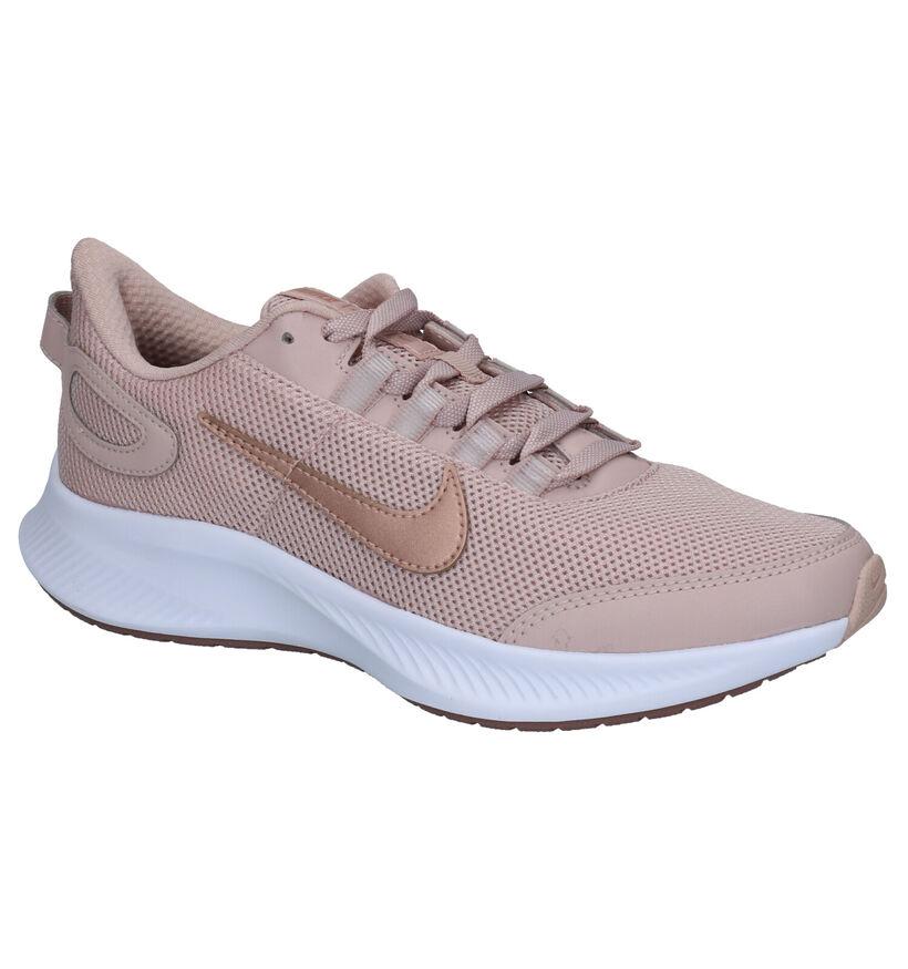 Nike Run All Day Roze Sneakers in stof (265863)