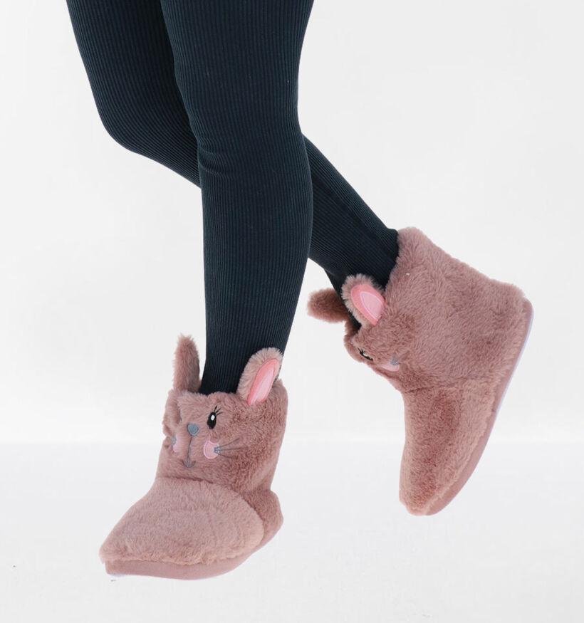 Marline Roze Pantoffels in stof (292703)
