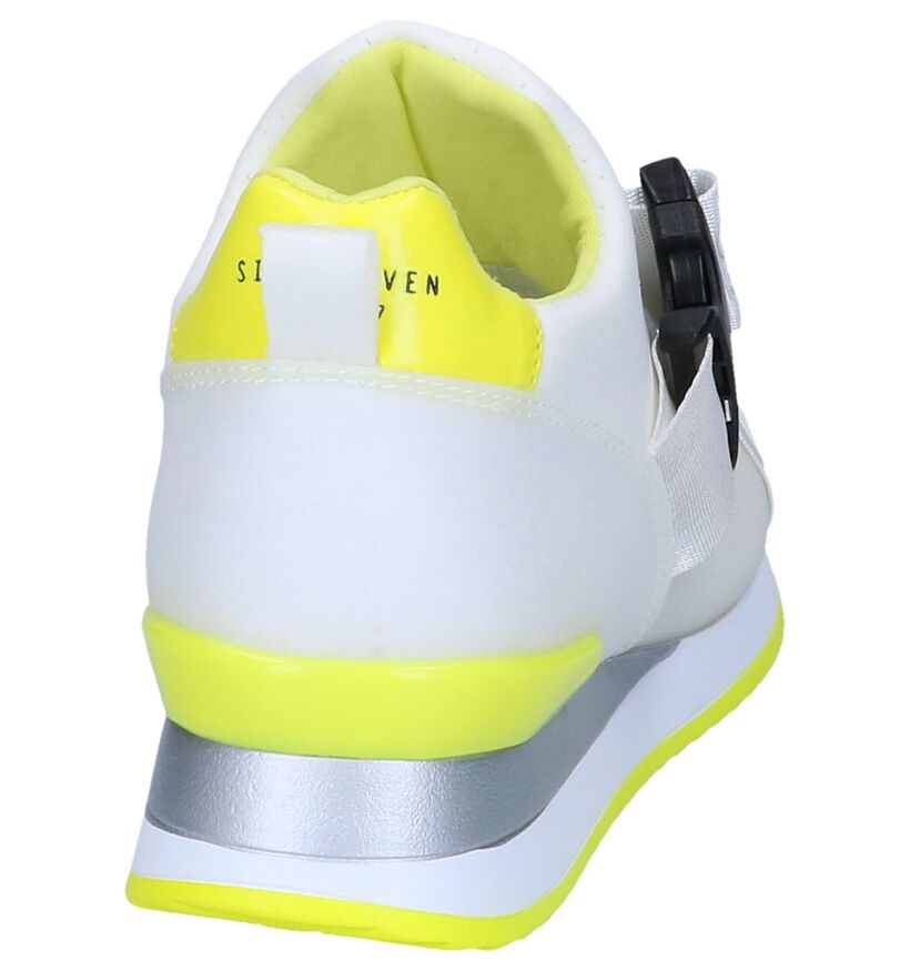 Witte Slip-on Sneakers Sixtyseven in stof (248678)