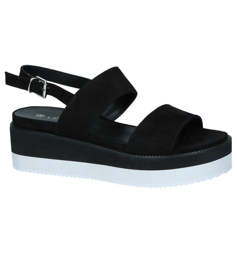 Youh! Sandales à talons en Noir en textile (239324)