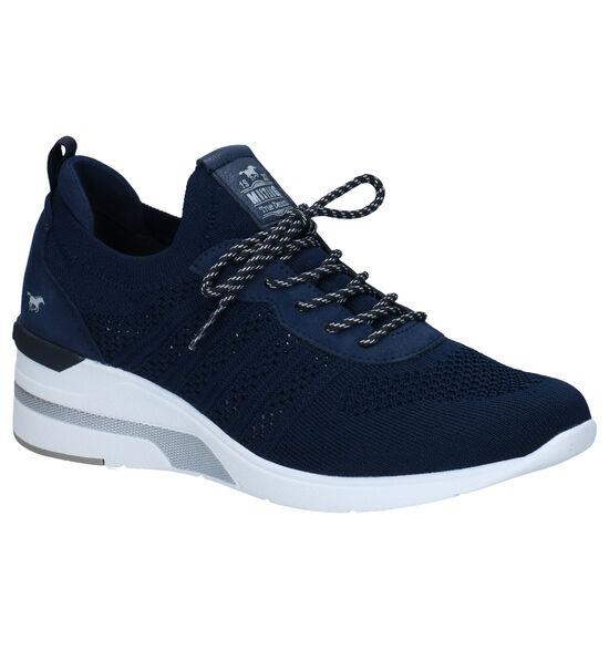 Mustang Blauwe Slip-on Sneakers