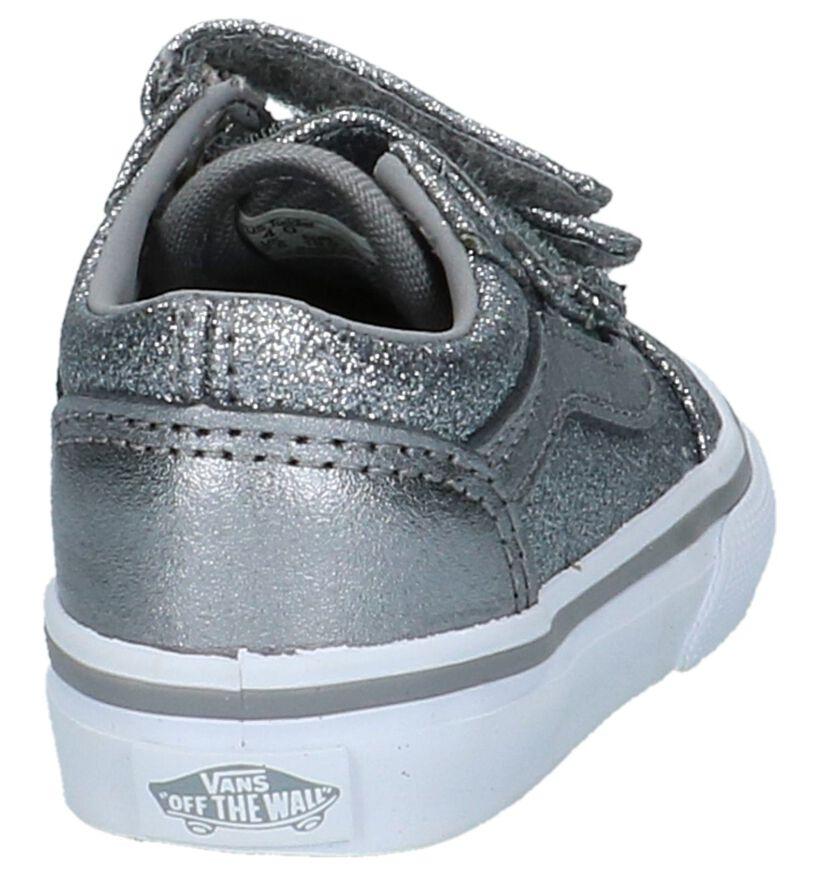 Vans Old Skool Babyschoentjes Zilver in stof (207933)