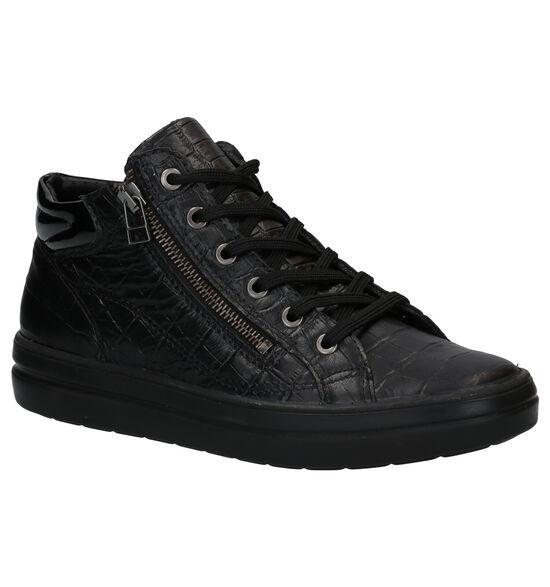 Mirel Zwarte Hoge Sneakers