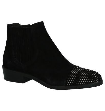 Geklede Boots Via Roma Zwart in daim (204358)