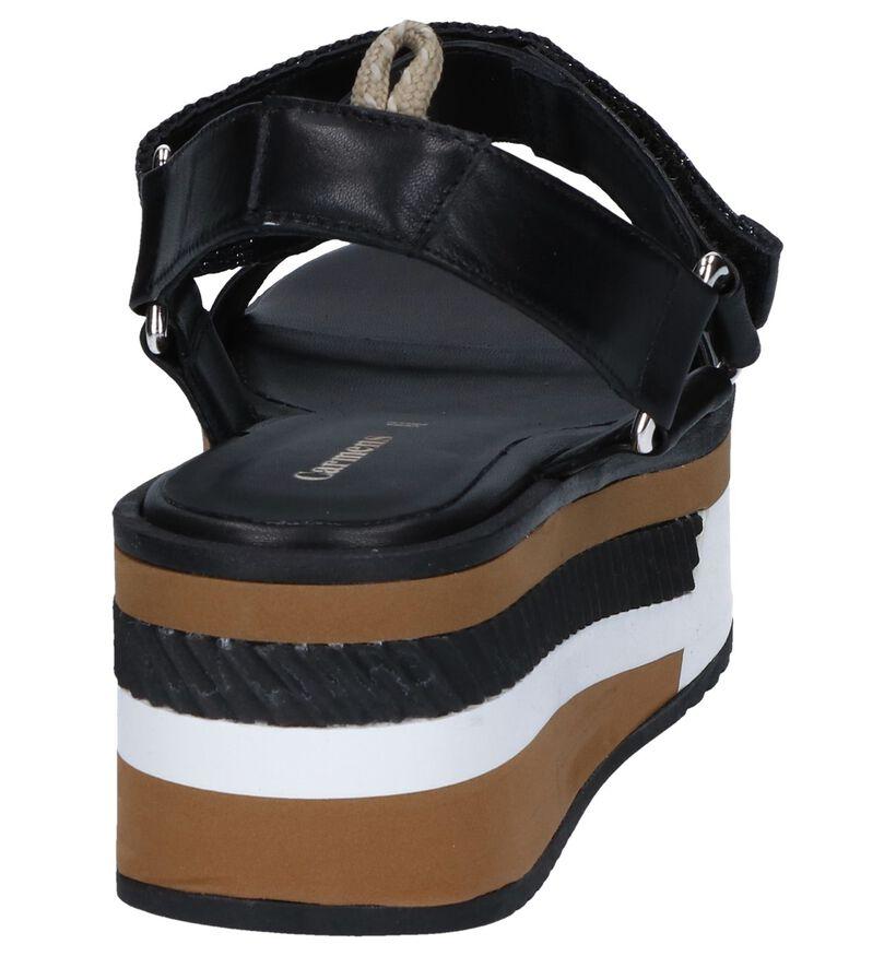 Carmens Sandales à talons en Noir en cuir (254230)