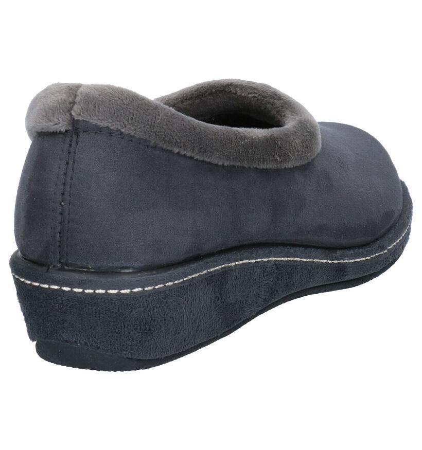Vulcarini Grijze Pantoffels in stof (260927)