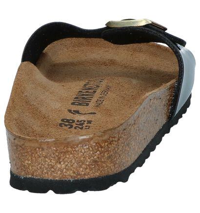 Birkenstock Madrid Nu-pieds en Noir en simili cuir (255847)