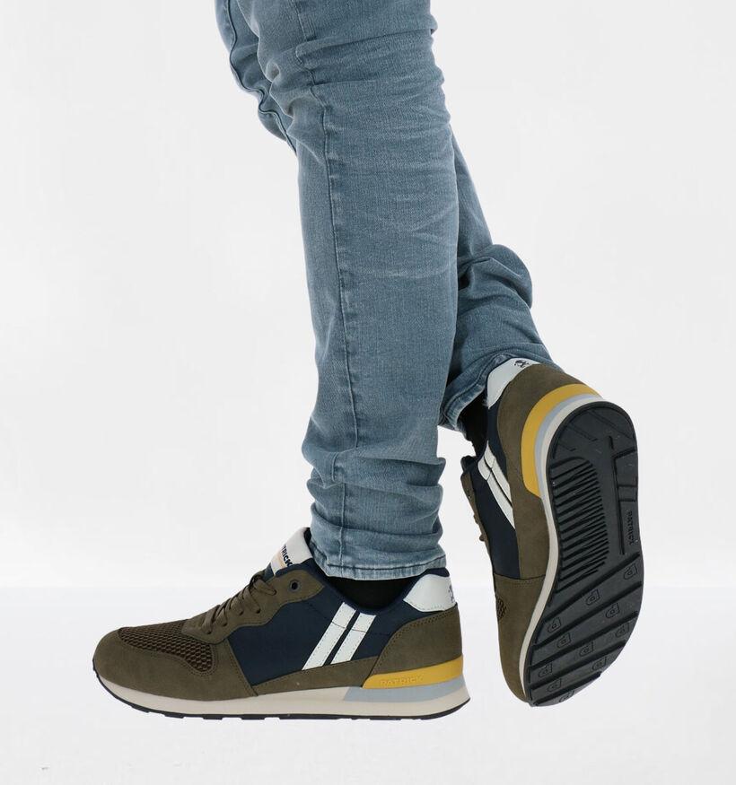 Patrick Vegan Kaki Sneakers in stof (291123)