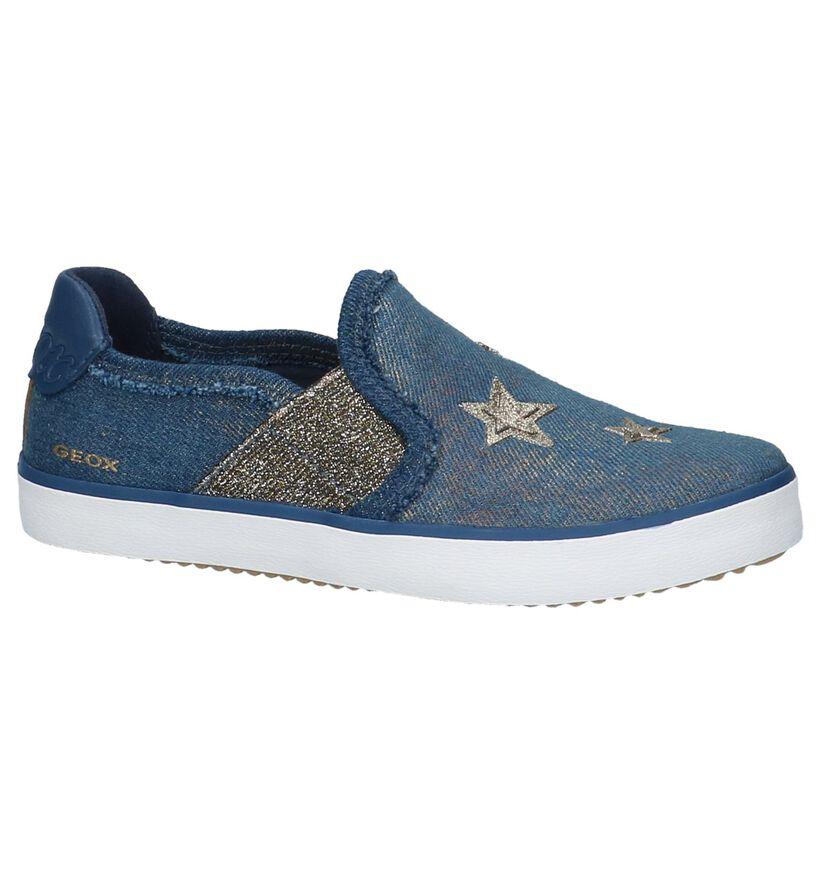 Geox Baskets slip-on en Bleu en textile (210501)