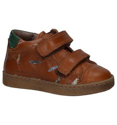 STONES and BONES Chaussures hautes en Cognac en cuir (223430)