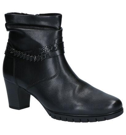Gabor Comfort Zwarte Enkellaarzen in leer (260270)