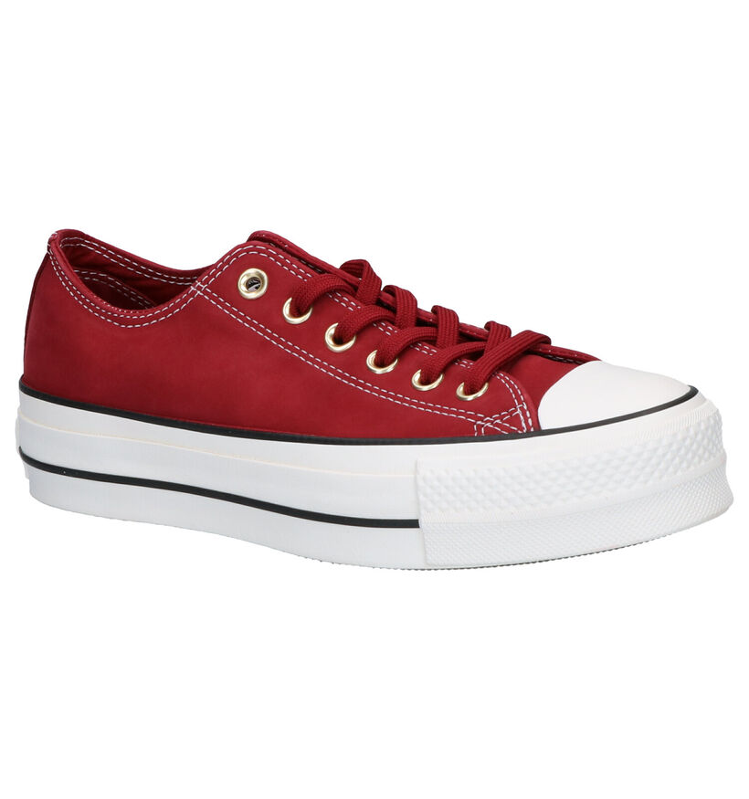 Converse Chuck Taylor AS Lift OX Rode Sneakers in nubuck (253199)