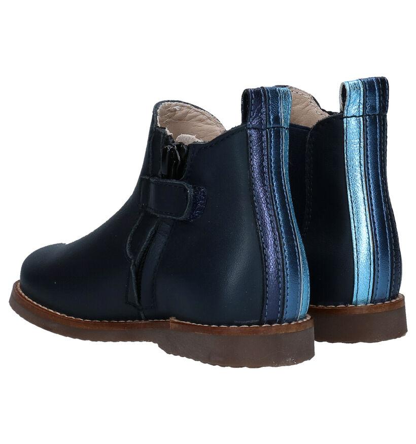 Beberlis Chaussures hautes en Bleu foncé en cuir (281128)