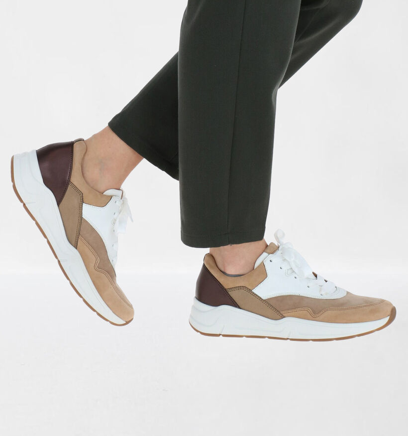 Gabor OptiFit Chaussures à lacets en Gris en cuir (282454)