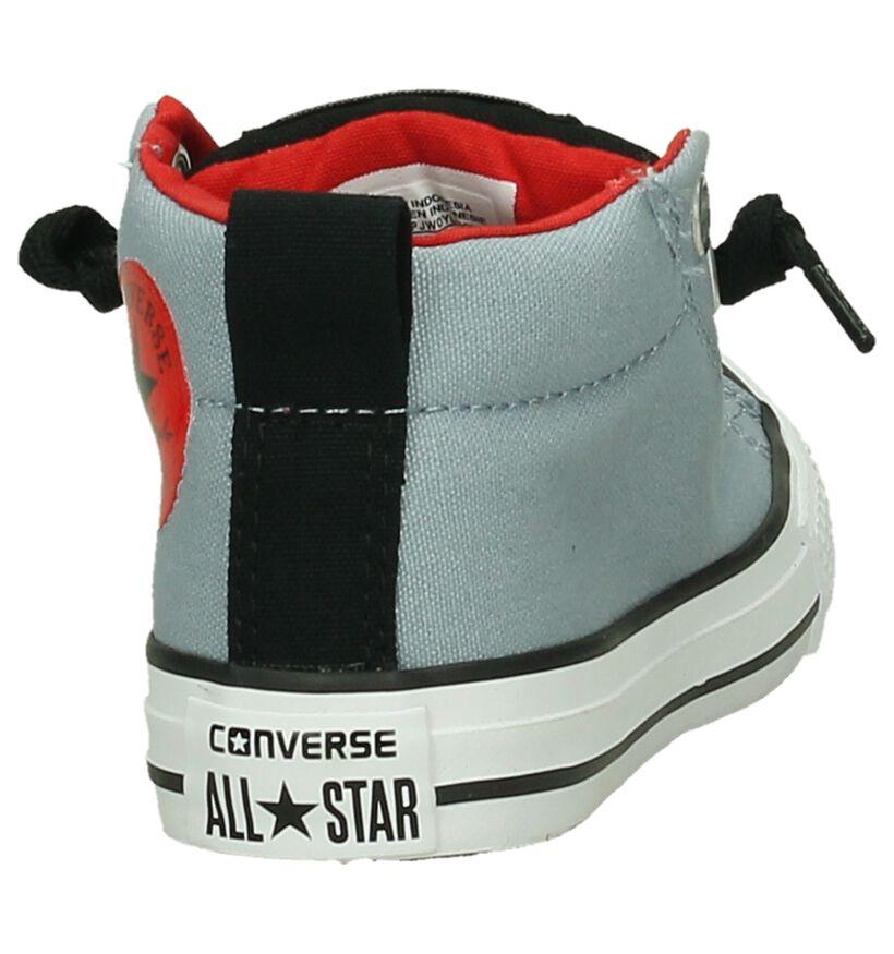 Converse Chuck Taylor All Star MID Baskets en Bleu en textile (191267)