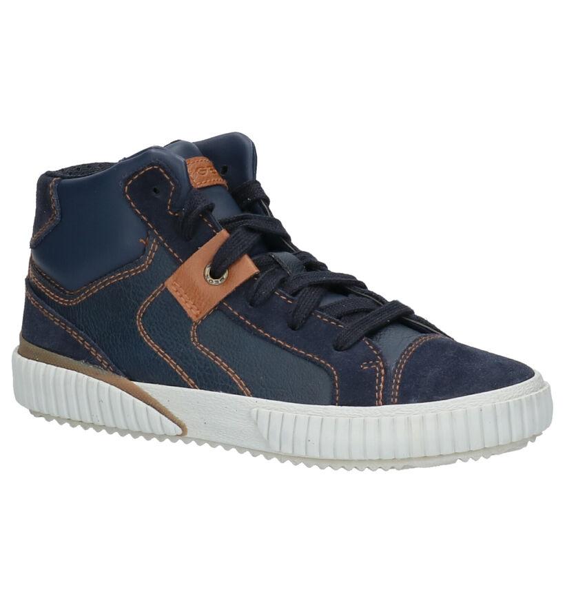 Geox Chaussures hautes en Bleu foncé en cuir (262404)
