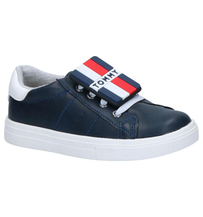 Tommy Hilfiger Blauwe Sneakers in kunstleer (266591)
