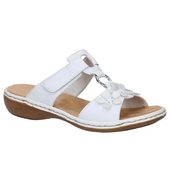 Rieker Witte Slippers