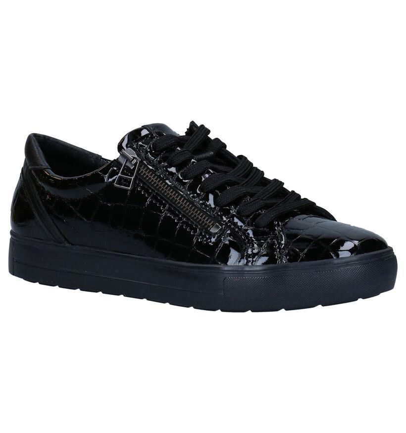 Mirel Chaussures à lacets en Noir en cuir (279834)