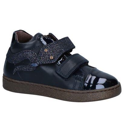 STONES and BONES Chaussures hautes en Bleu foncé en cuir (255502)