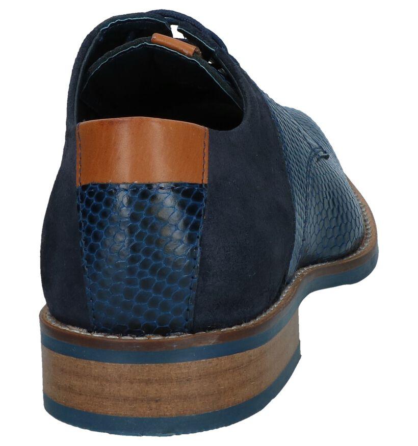 Chaos Chaussures habillées en Bleu foncé en daim (239271)