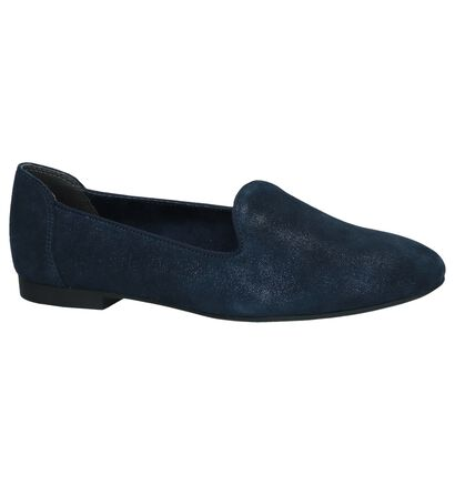 Donkerblauwe Loafers Marco Tozzi in daim (242972)