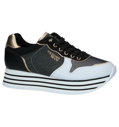 Zwart/Witte Sneakers Trussardi Jeans in stof (222382)