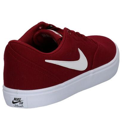 Nike SB Check Solar Bordeaux Sneakers in stof (254043)