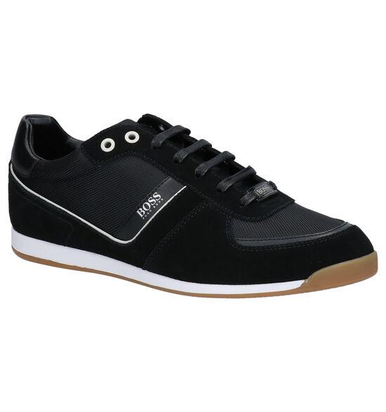 Hugo Boss Glaze Low Chaussures à lacets en Noir