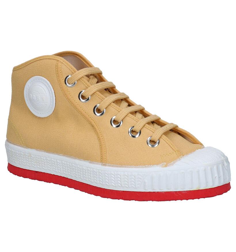 0051 Barvy Gele Sneakers in stof (294648)