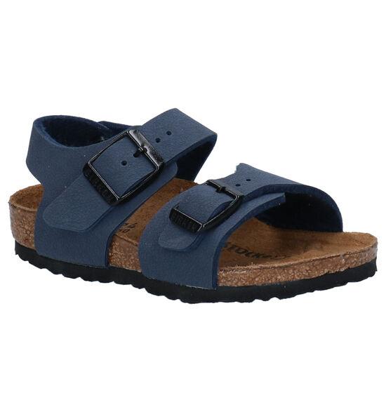Birkenstock New York Sandales en Bleu