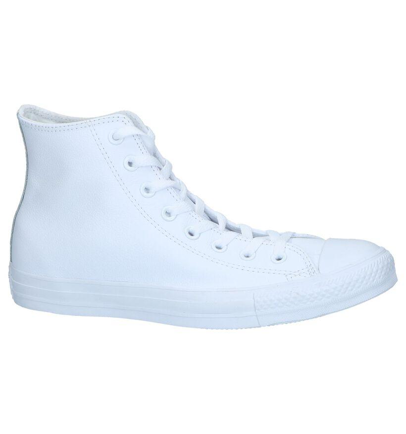 Converse Chuck Taylor All Star Baskets hautes en Blanc en cuir (238396)