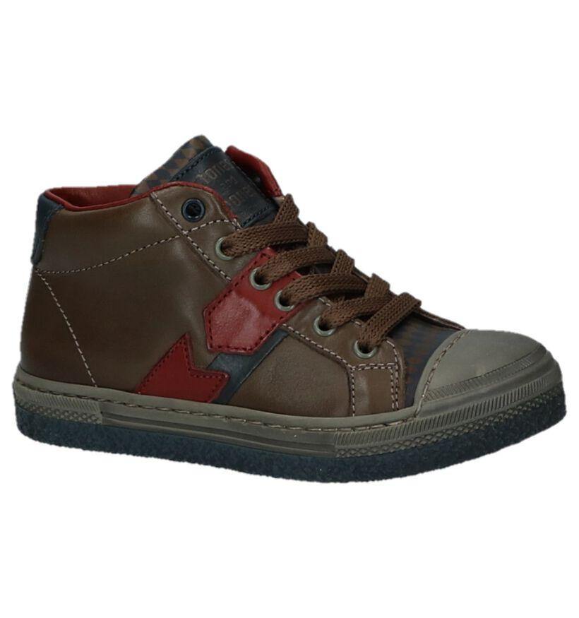 STONES and BONES Rembo Chaussures hautes en Brun en cuir (223433)