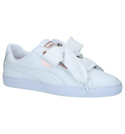 Puma Sneakers Wit met Strikken in leer (221666)